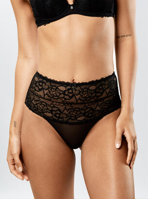 Sexy Lace High Waisted Brief