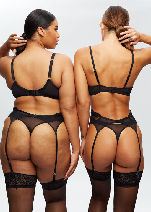 Sexy Lace Sustainable Suspender Belt image number 7.0