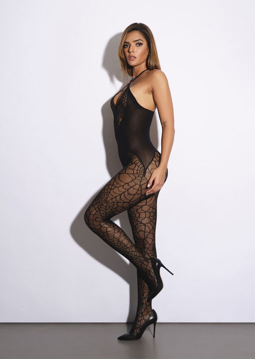 Black Widow Crotchless Bodystocking image number 6.0