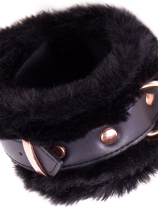 Aphrodisiac Faux Fur Buckle Cuffs image number 1.0