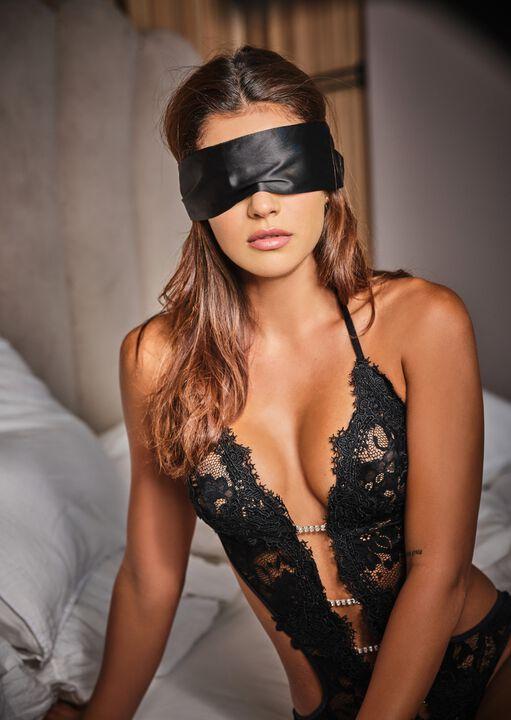 Satin & Lace Blindfold image number 0.0