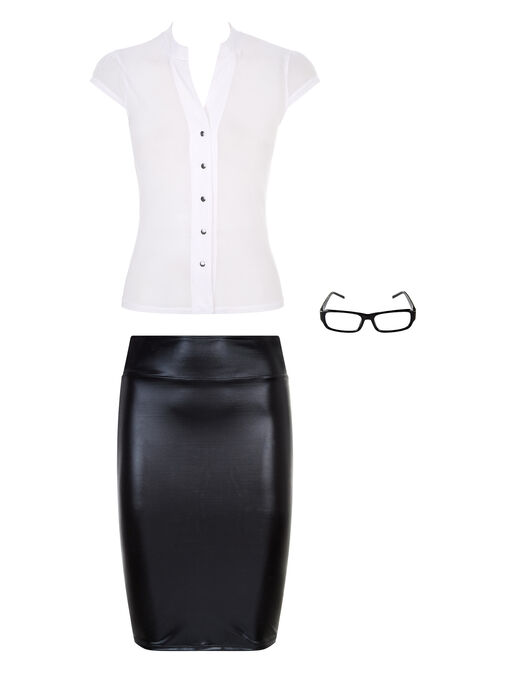 Sexy Secretary Outfit  image number 3.0