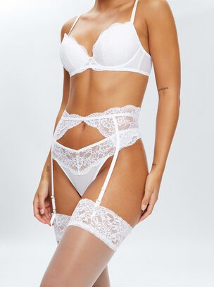 Sexy Lace Sustainable Suspender Belt