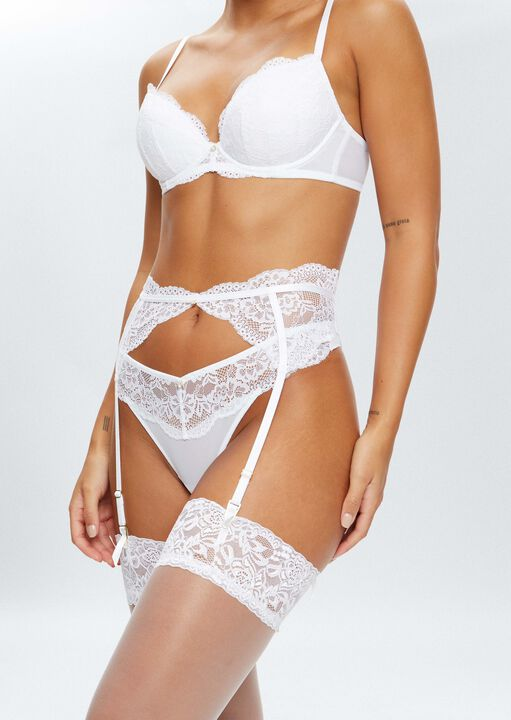 Sexy Lace Sustainable Suspender Belt image number 0.0
