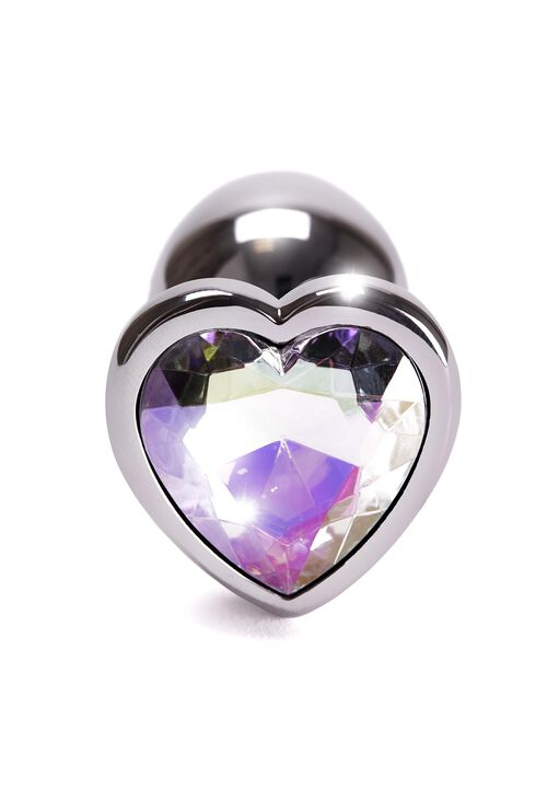 Small Heart Metal Butt Plug image number 2.0