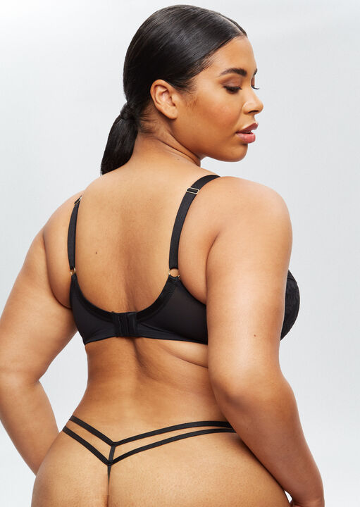 Sexy Lace Sustainable Plunge Bra image number 7.0