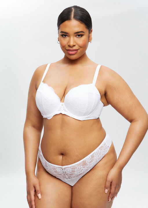 Sexy Lace Sustainable Plunge Bra image number 2.0