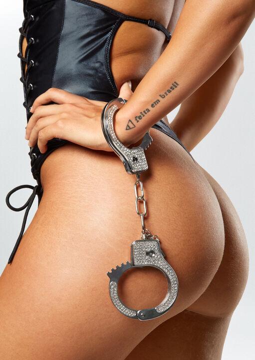 Diamante Metal Cuffs image number 5.0