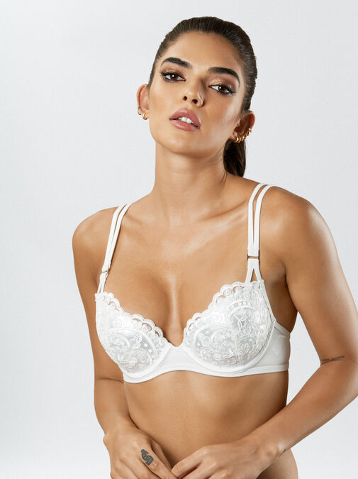 Fiercely Sexy Push Up Plunge Bikini Top image number 5.0