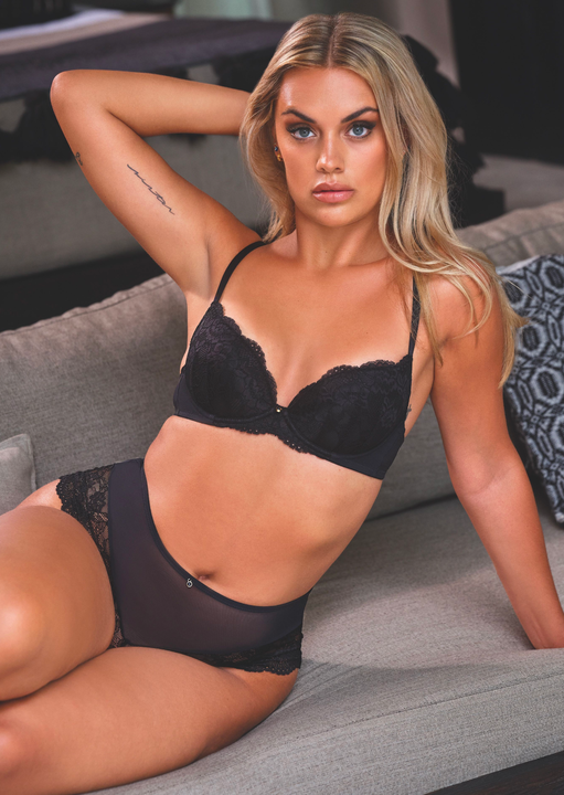Sexy Lace Sustainable Plunge Bra image number 0.0