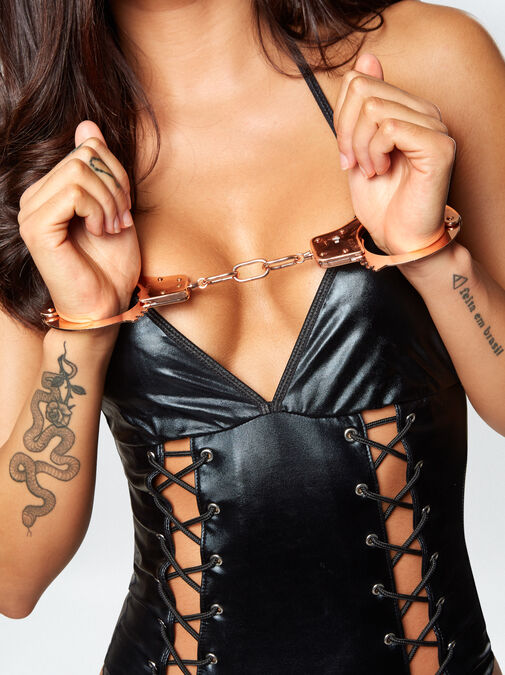Signature Rose Gold Metal Handcuffs image number 4.0