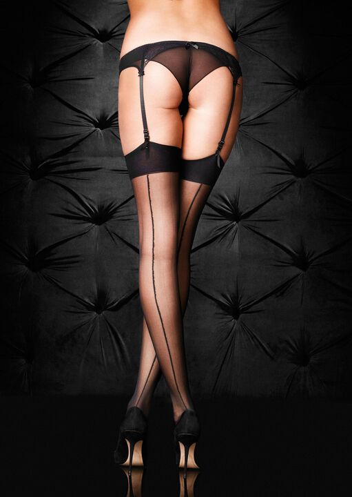 Plain Top Seamed Stockings image number 1.0