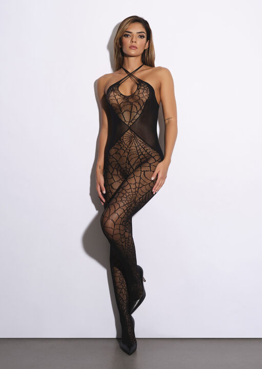 Black Widow Crotchless Bodystocking image number 4.0