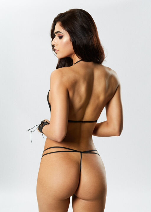 PU Brielle Crotchless Body with Cuffs image number 1.0