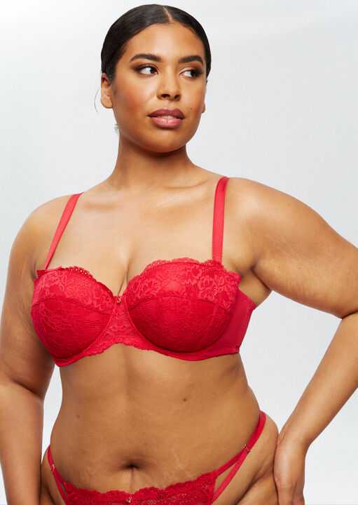 Sexy Lace Sustainable Balcony Bra image number 7.0