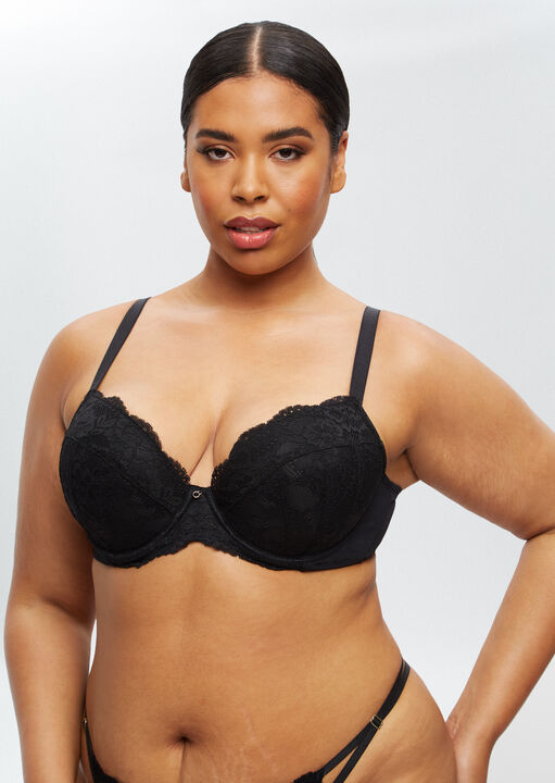 Sexy Lace Sustainable Plunge Bra image number 10.0
