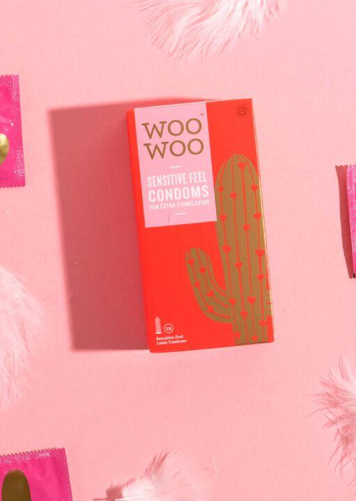 Woo Woo Thin Feel Sensitive Condoms 12 Pack image number 2.0