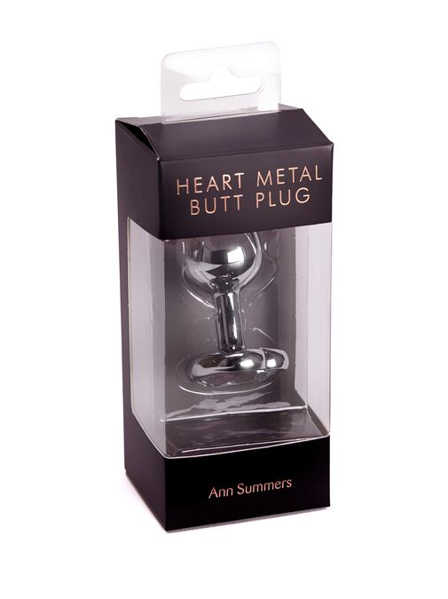 Small Heart Metal Butt Plug image number 5.0