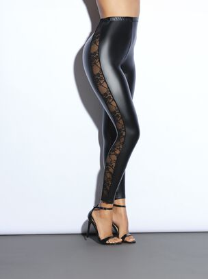 The Lace and PU Leggings