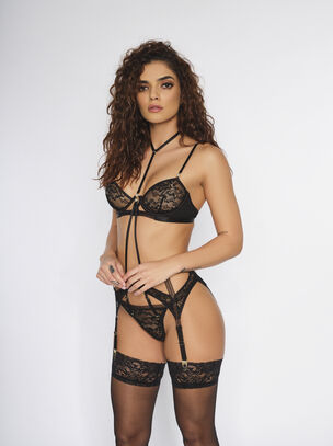 The Uptown Girl Crotchless Set
