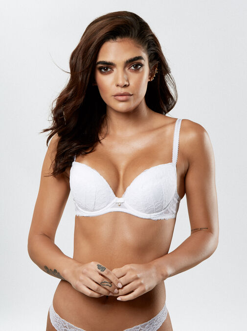 Sexy Lace Push Up Plunge Bra image number 2.0