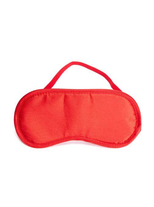 Red Satin Blindfold image number 2.0