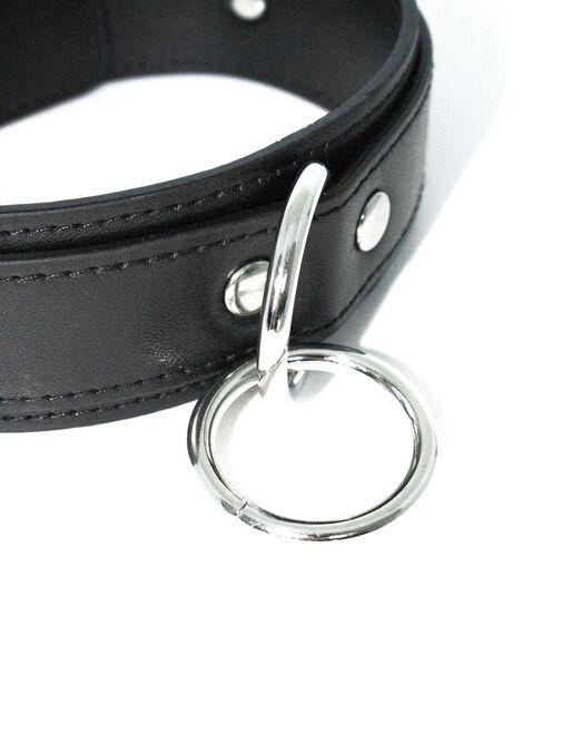 Bondage choker with ring detail image number 3.0