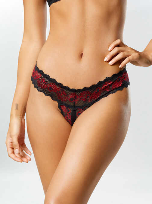 Brielle 3 Pack Crotchless Thong image number 5.0