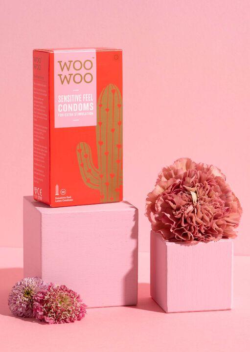 Woo Woo Thin Feel Sensitive Condoms 12 Pack image number 3.0