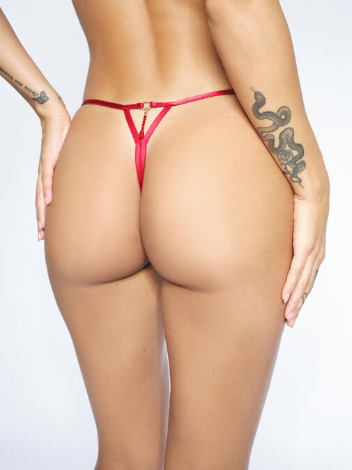 Fiercely Sexy Crotchless Thong  image number 1.0