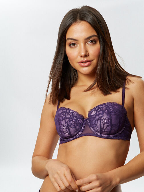 Sexy Lace Balcony Bra  image number 2.0