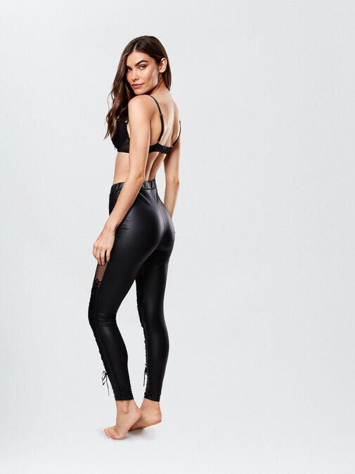 PU Lace Up Leggings image number 1.0