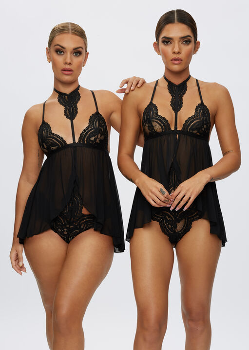 The Taylor Babydoll and Brazilian Set image number 1.0