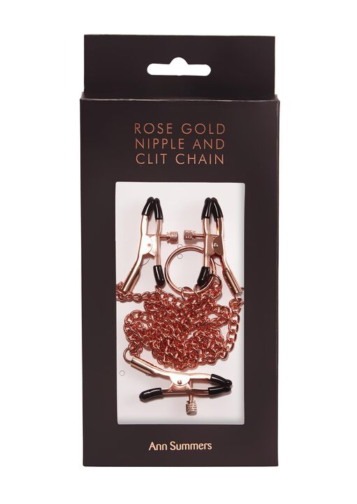 Rose Gold Nipple and Clit Chain image number 3.0
