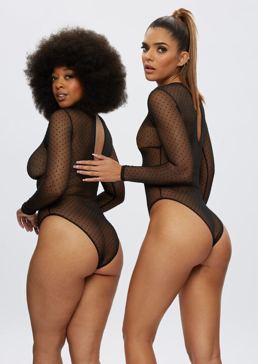 The Lucky Night Long Sleeve Crotchless Body image number 4.0