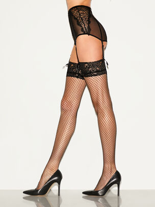 Lace Top Fishnet Stocking