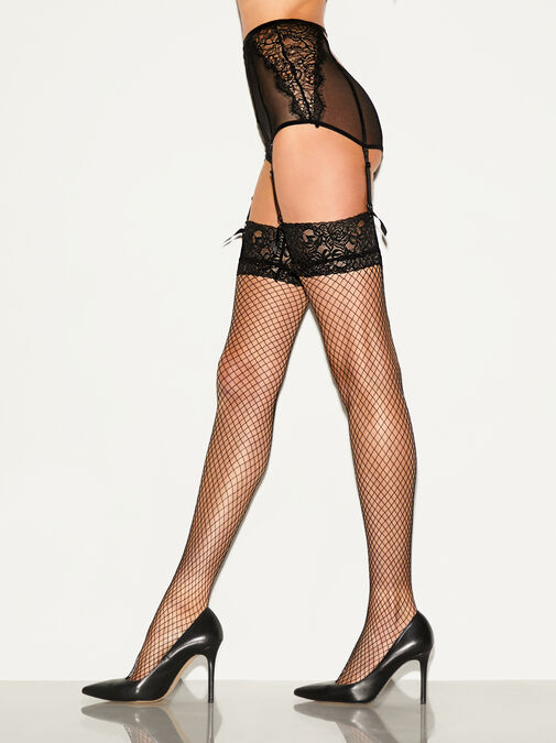 Lace Top Fishnet Stocking image number 0.0