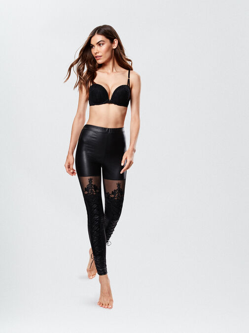PU Lace Up Leggings image number 0.0