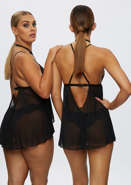 The Taylor Babydoll and Brazilian Set image number 4.0