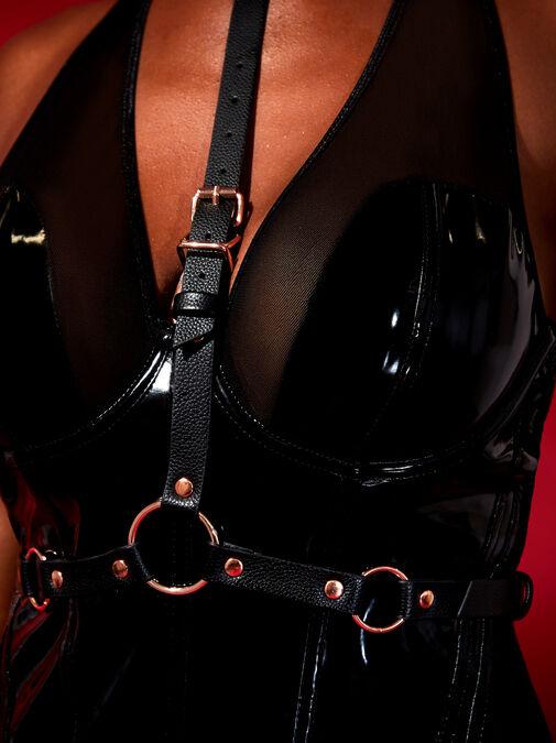 Black Adjustable Body Harness image number 3.0