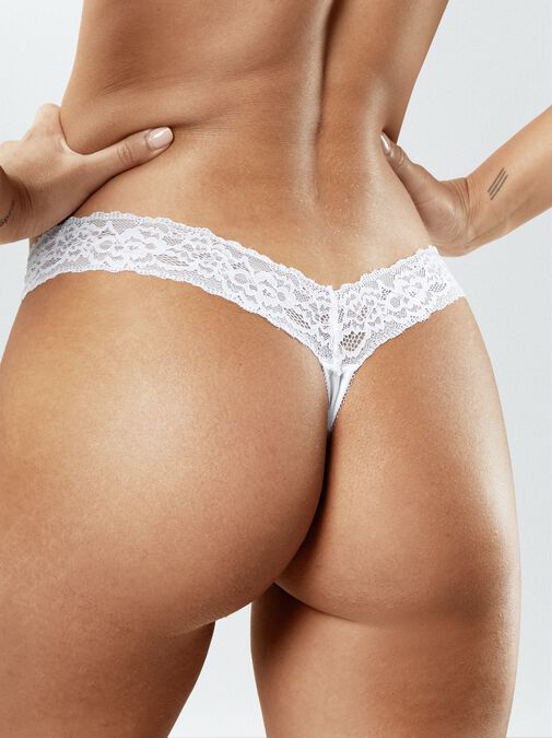 Sexy Lace Demi Thong image number 1.0