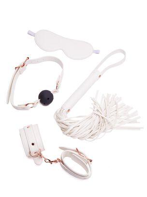 White Faux Leather Bondage Set