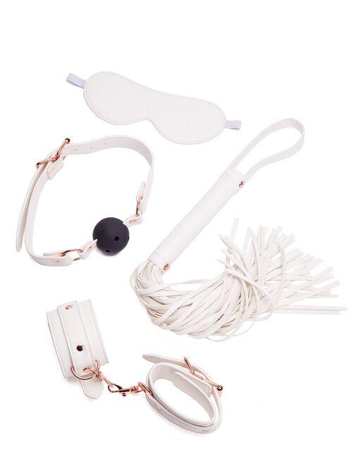 White Faux Leather Bondage Set image number 0.0