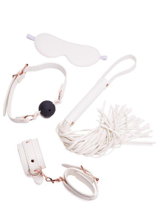 White Faux Leather Bondage Set image number 3.0
