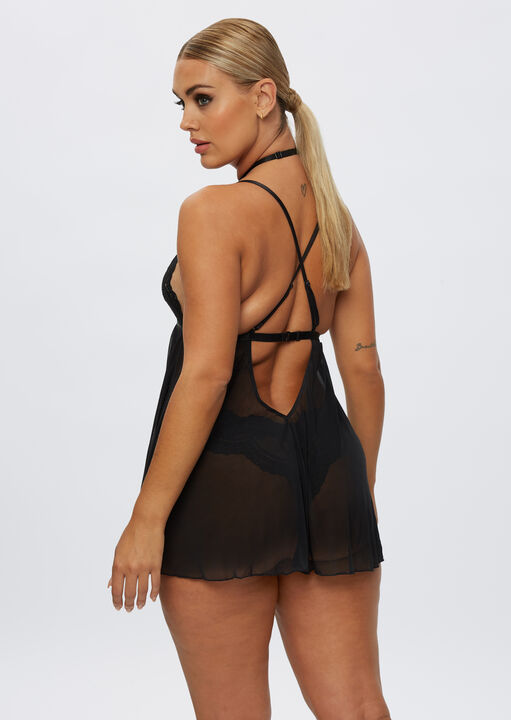 The Taylor Babydoll and Brazilian Set image number 5.0