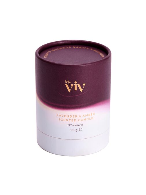My Viv Lavender & Amber Home Candle image number 3.0