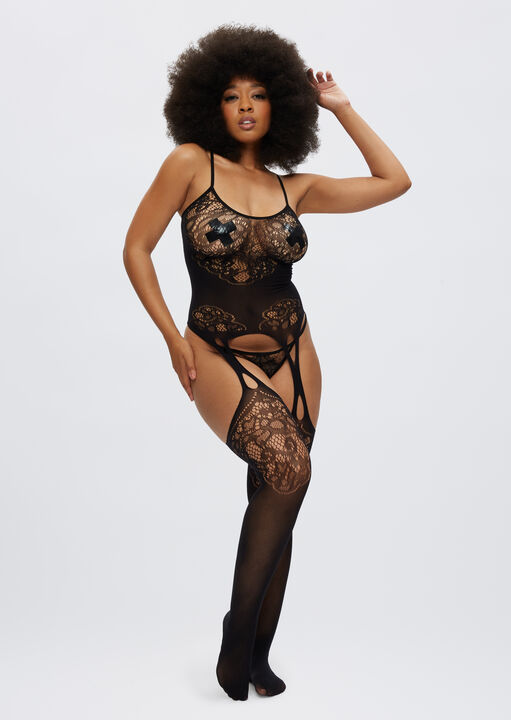 The Flaunted Crotchless Bodystocking image number 2.0