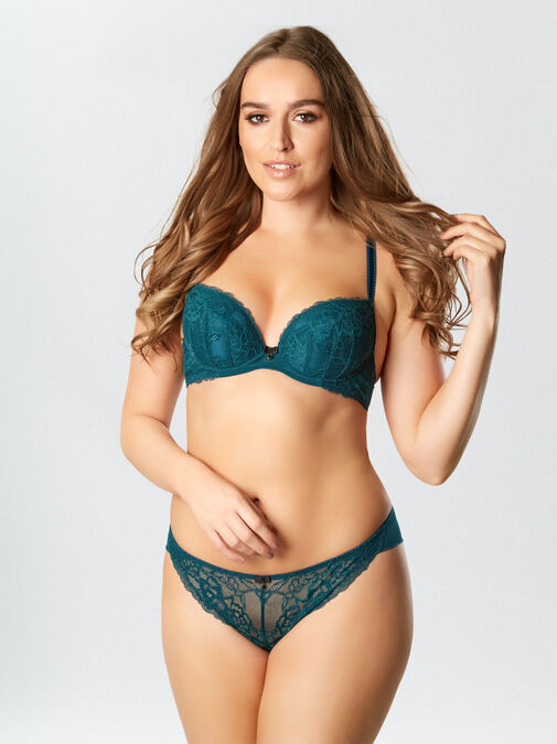 Sexy Lace Plunge Bra image number 4.0