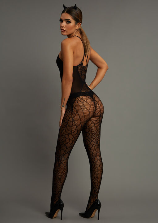 Black Widow Crotchless Bodystocking image number 1.0