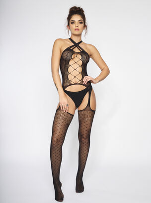 The Determination Crotchless Bodystocking
